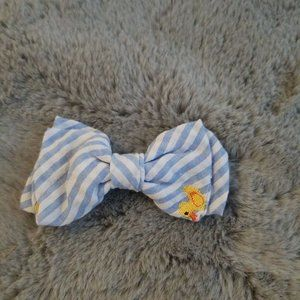 Striped Bow with ducks for dogs